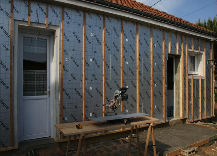 isolation des murs extérieur
